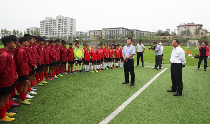 杜兆才调研长春亚泰训练基地,看望集训中的U16国少