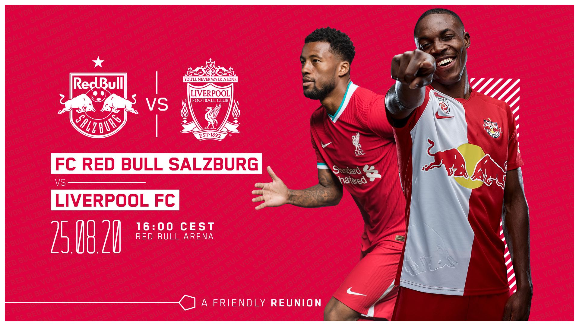 萨尔茨堡红牛官方:将于8月25日与利物浦进行友谊赛