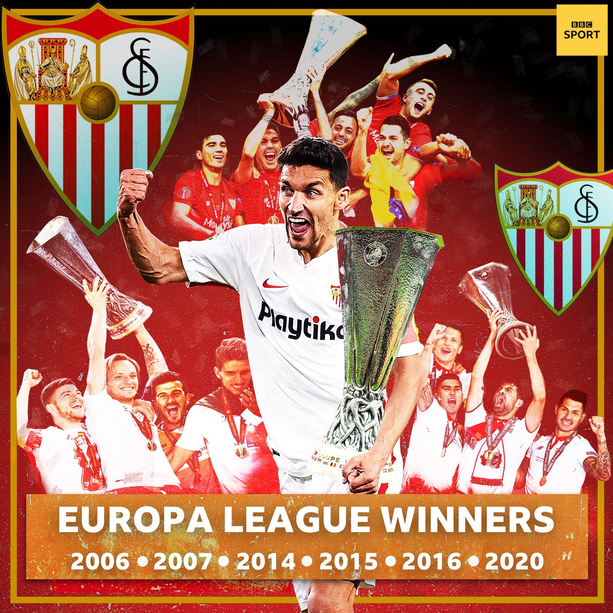 欧联绝对王者!塞维利亚捧杯,队史第6次赢得欧联杯冠军