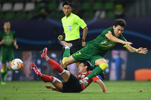 半场:巴坎布破门王燊超头球扳平,国安1-1上港