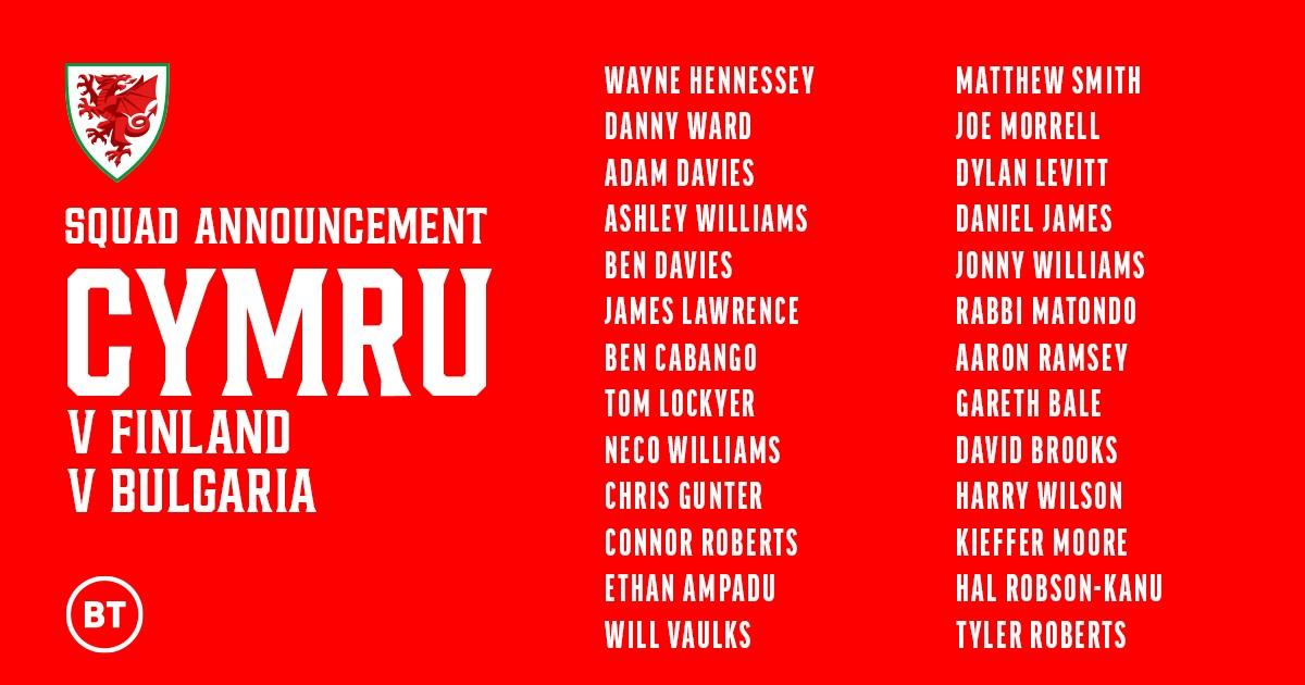 威尔士大名单:贝尔、拉姆塞领衔,丹尼尔-詹姆斯入选