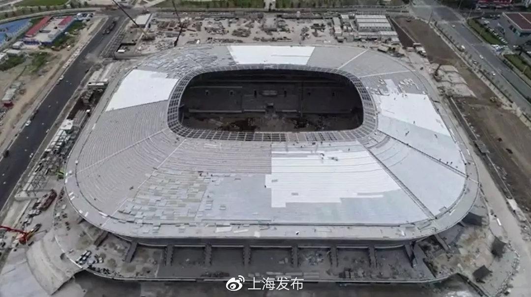 上海浦东足球场膜单元吊装完成梦幻捕鱼千炮版领红包365体育网址,单元间无缝对接世界首例