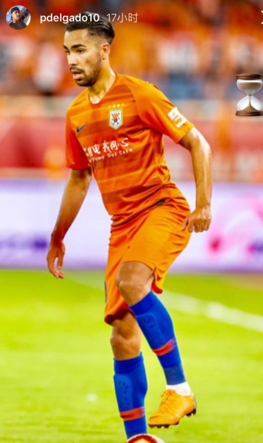 德尔加多晒图宣布回归鲁能,将报名参加下阶段联赛
