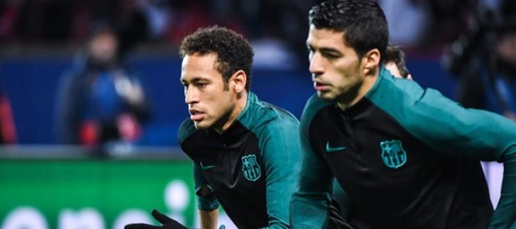 法媒:苏亚雷斯近期频繁和内马尔通话,有意去巴黎踢球