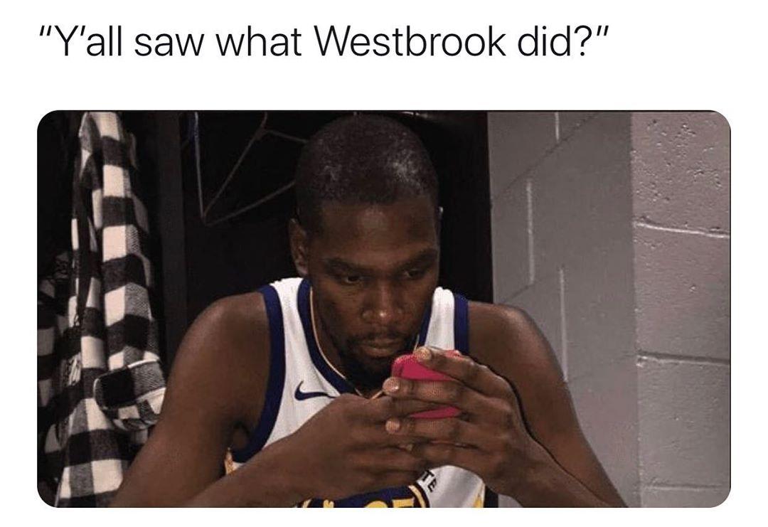 NBA一周国外梗图:你们都看到威少做了什么吗?—某小帅