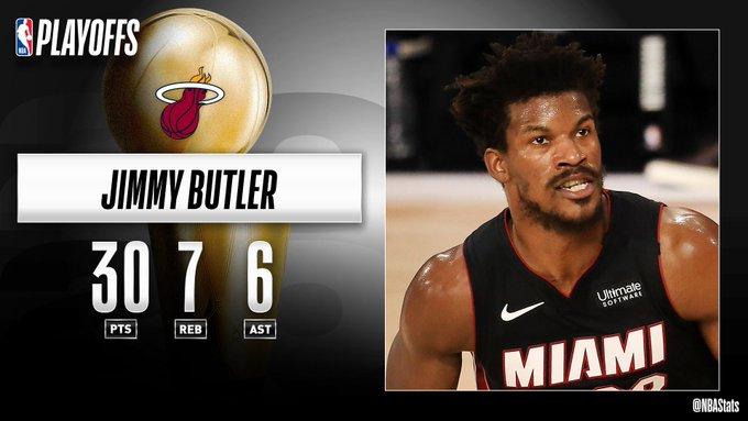 NBA官方评选最佳数据:巴特勒30分7篮板6助攻当选