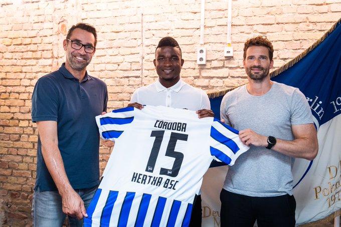 柏林赫塔官方:科隆前锋科尔多巴正式加盟球队 第1张