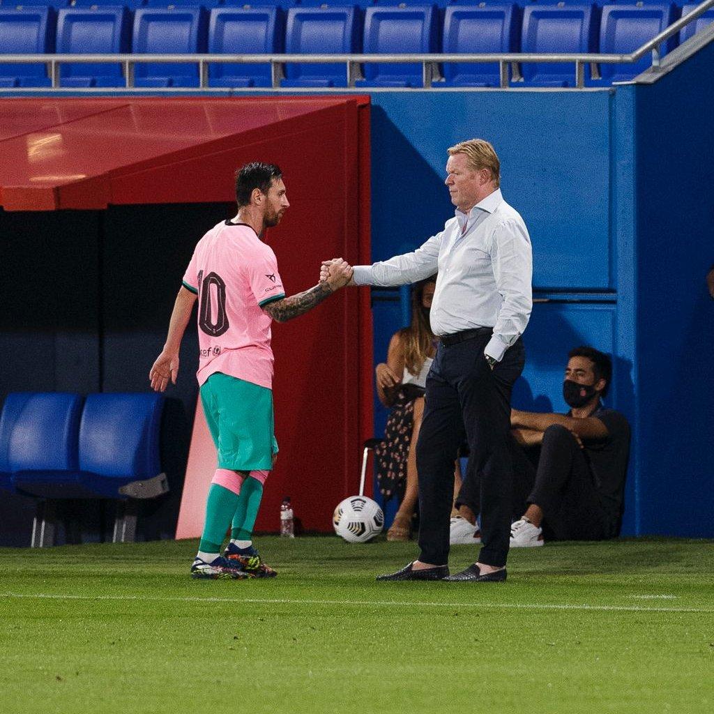 巴萨3-1吉罗纳获热身赛两连胜,梅西两球库蒂尼奥破门