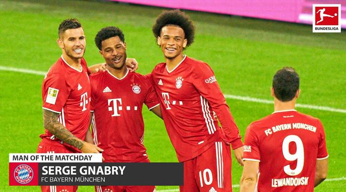 拜仁慕尼黑8-0打败沙尔克,格纳布里演出帽子戏法