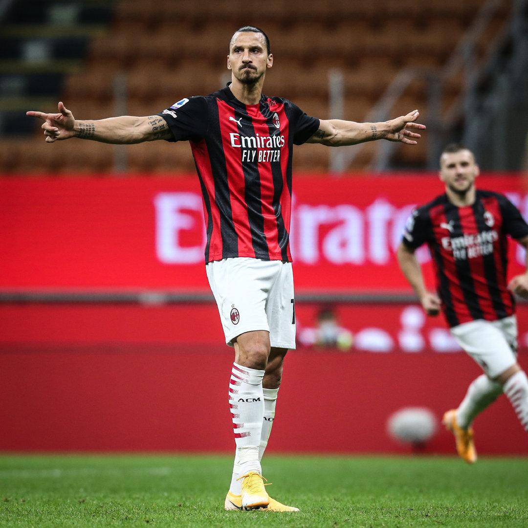 伊布梅开二度贝纳塞造点戴克斯染红,米兰2-0博洛尼亚