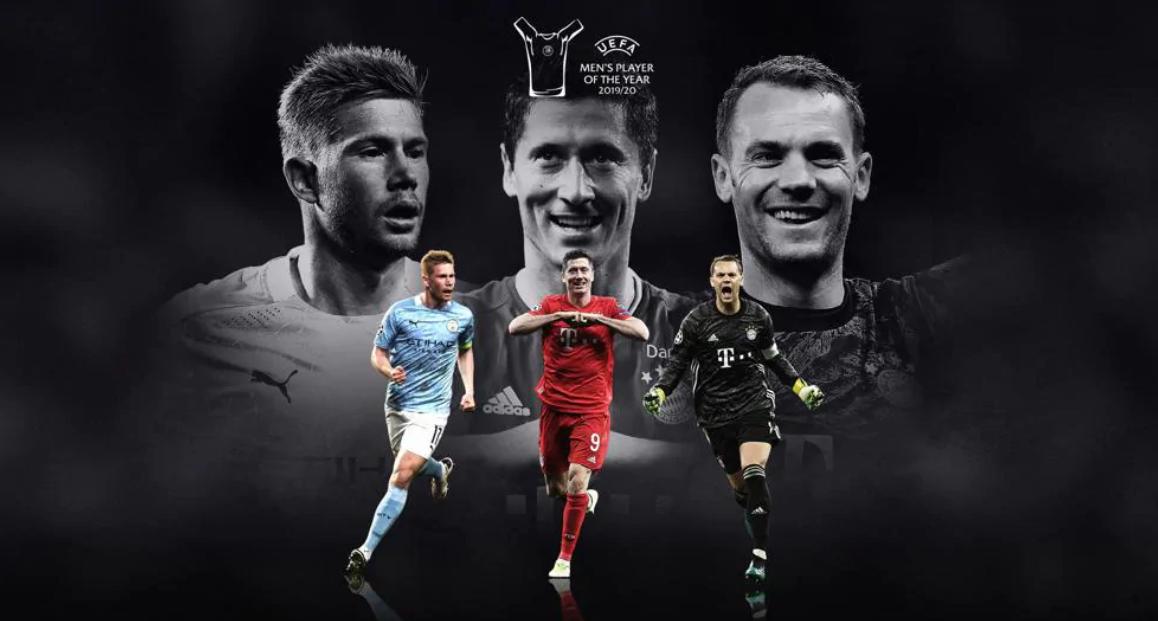 「德布劳内 穆里尼奥」欧足联年度最佳球员候选:前三德布劳内、莱万、诺伊尔