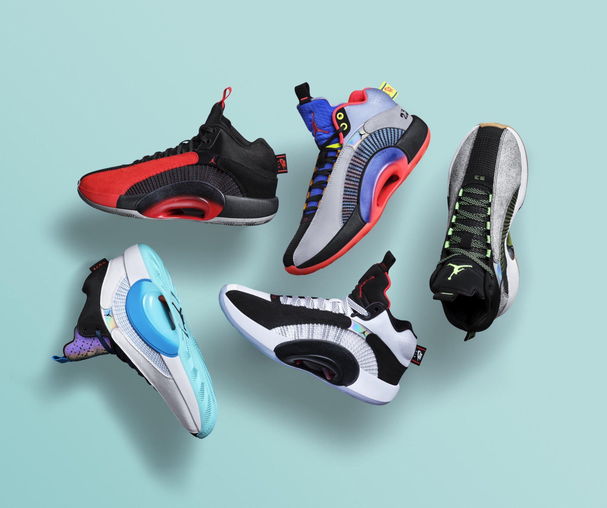 AJ35球鞋发布,蔡恩、郭艾伦等旗下球员将获专属配色