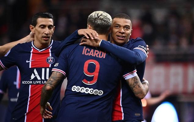 伊卡尔迪双响姆巴佩失单刀,巴黎圣日尔曼客场2-0兰斯