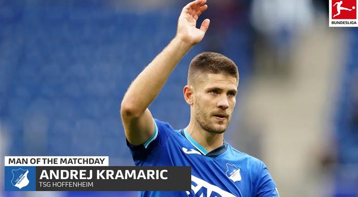 对阵拜仁梅开二度,克拉马里奇当选德甲本轮最佳球员