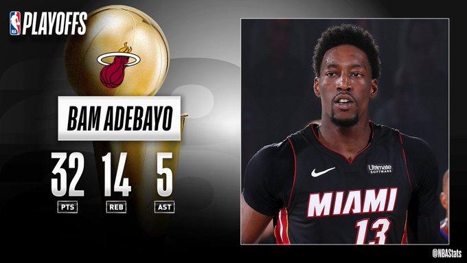 NBA官方评选最佳数据:阿德巴约32分14板5助攻当选