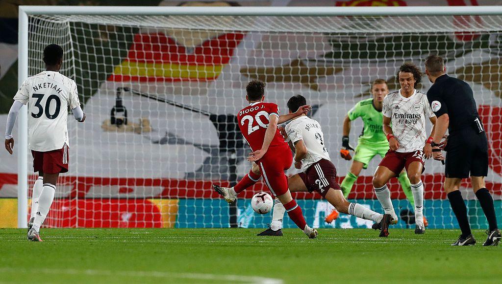 马内罗伯逊若塔破门,利物浦3-1阿森纳
