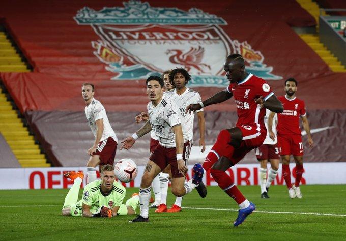 阿森纳杀手!马内来利物浦5个赛季,每年都叩开枪手球门