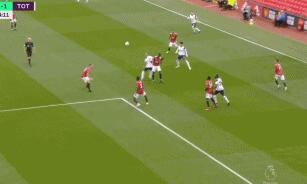 GIF:恩东贝莱闪电扳平,曼联1-1热刺