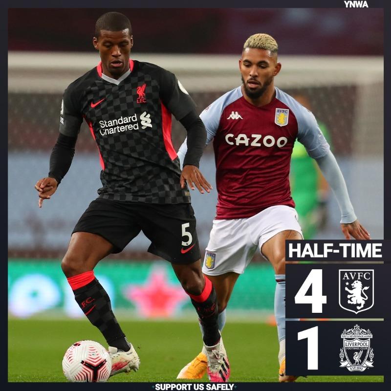 双红手拉手!曼联、利物浦本轮英超半场均1-4落后