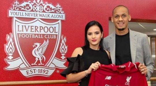 法比尼奥妻子给红军鼓劲:输赢同在,别忘记我们是利物浦
