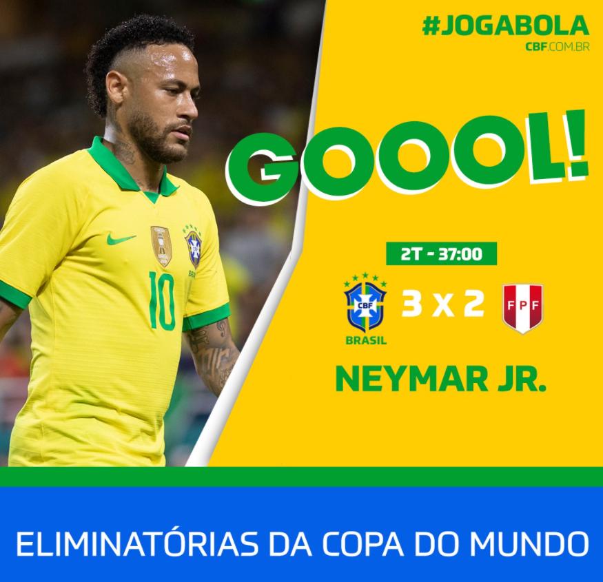 GIF:内马尔再次造点并点球梅开二度,秘鲁2-3巴西