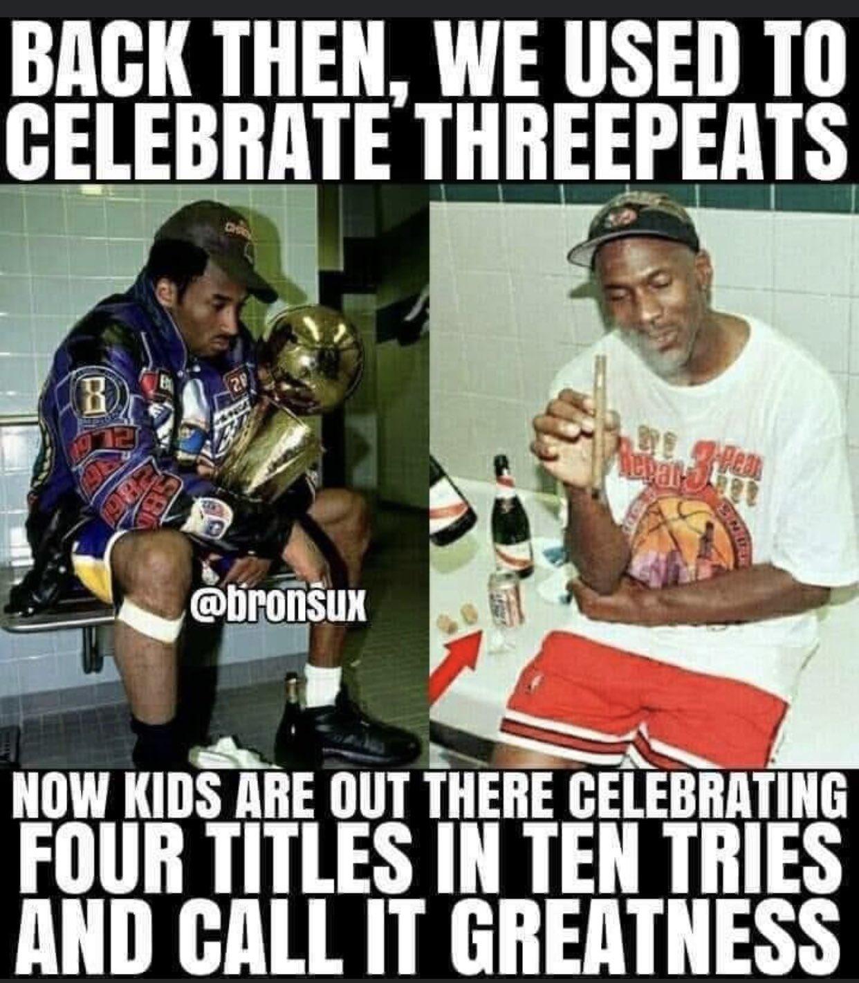 斯贝茨:以前只庆祝三连冠,现在的小孩称四冠为伟大
