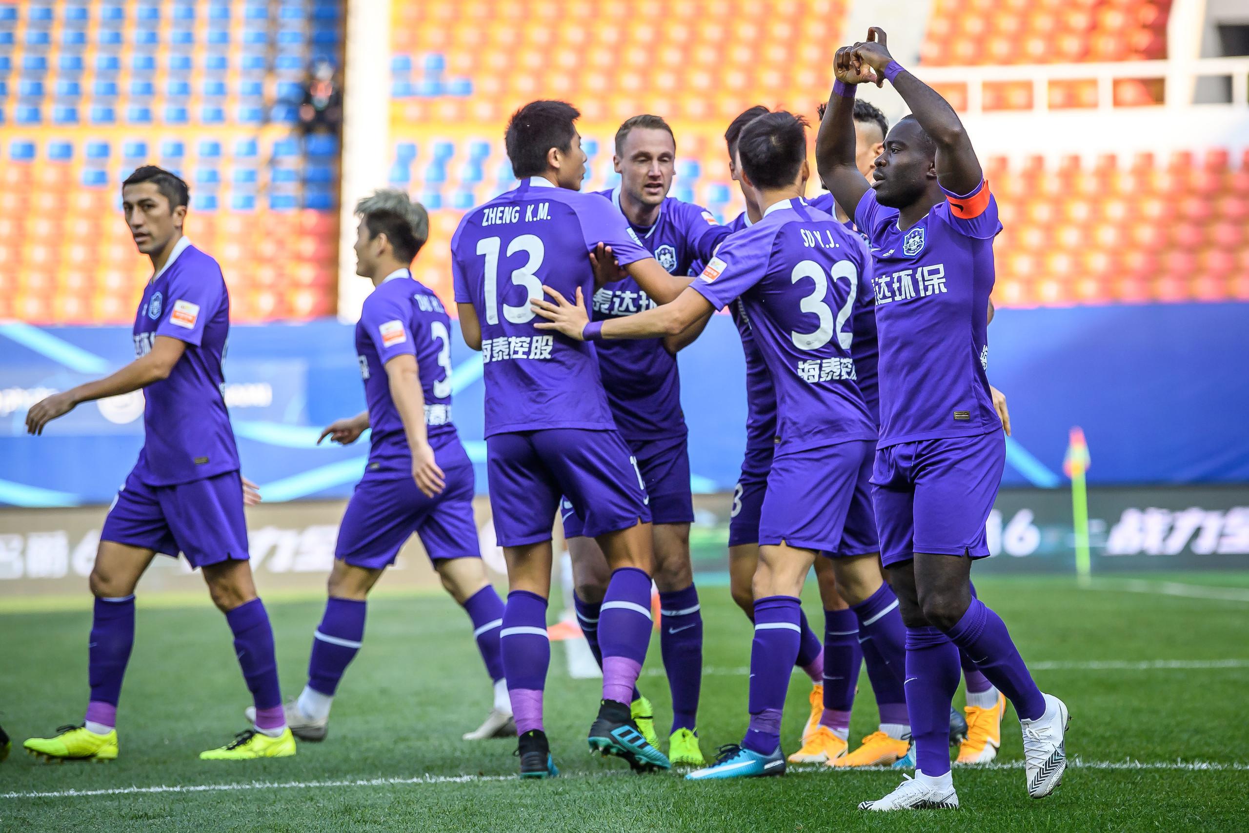 保级组:阿奇姆彭双响,泰达首回合2-0深圳