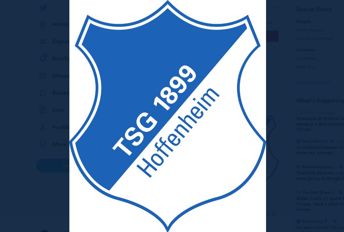 官方:霍芬海姆2名球员新冠检测呈阳性