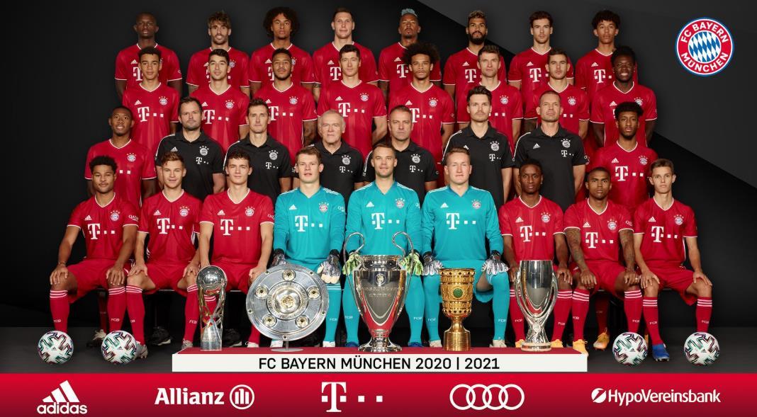 拜仁慕尼黑发布新赛季全家福定妆照,一线队达到27人