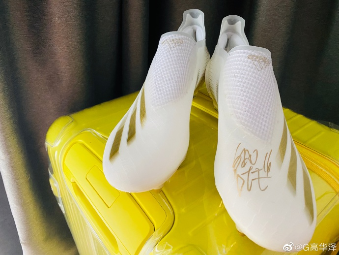 收到高拉特签名战靴,高华泽:感谢高家的兄弟