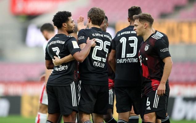 穆勒点射格纳布里破门,拜仁客场2-1科隆