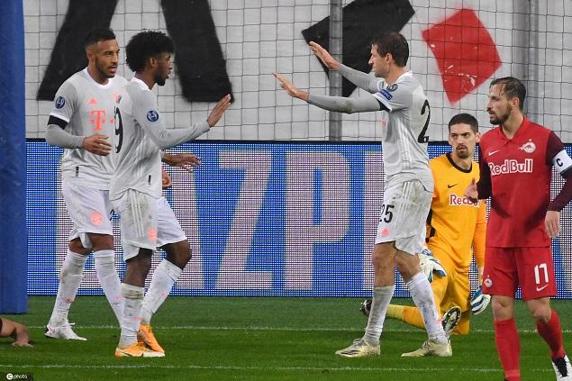 欧冠:基米希两传莱万梅开二度,拜仁客场6-2萨尔茨堡