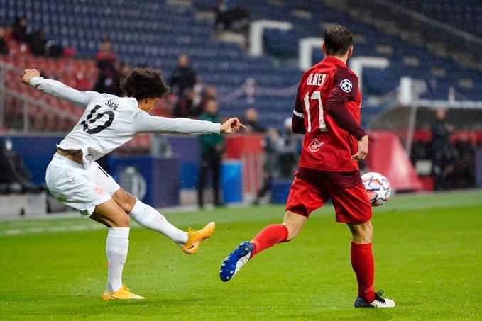 GIF:基米希助攻萨内插上破门,拜仁扩大领先