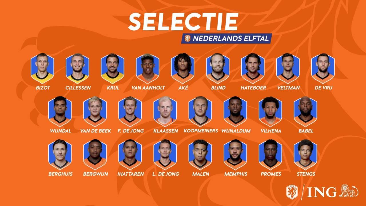 荷兰国家队大名单:范德贝克、德容入选,德利赫特缺席
