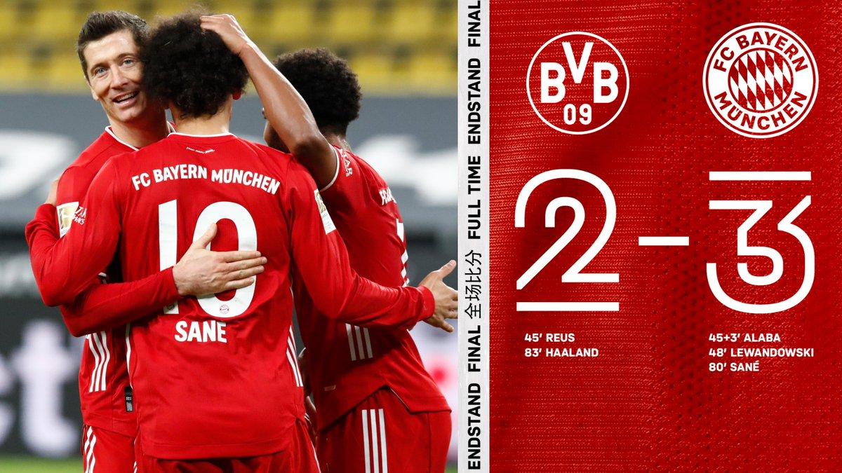 一面倒!拜仁取得德国国家德比四连胜,进11球丢4球