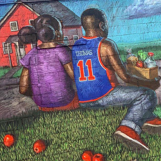 微笑刺客INS晒壁画:底特律的爱