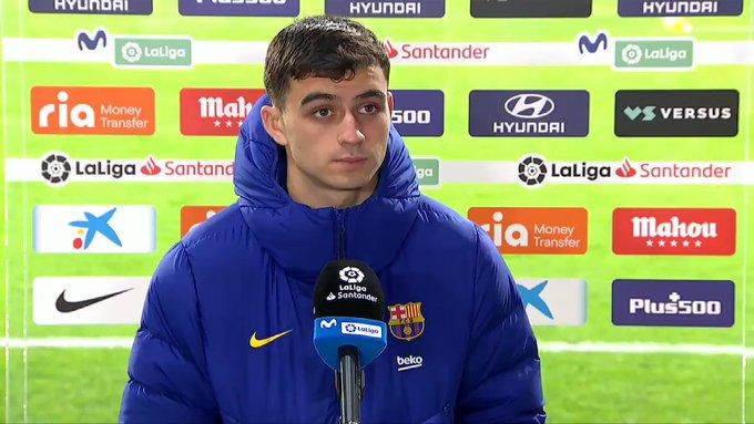佩德里:马竞的进球很伤士气,巴萨的射门也有失准星