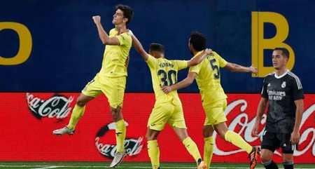 马里亚诺头槌库尔图瓦送点,皇马客场1-1比利亚雷亚尔