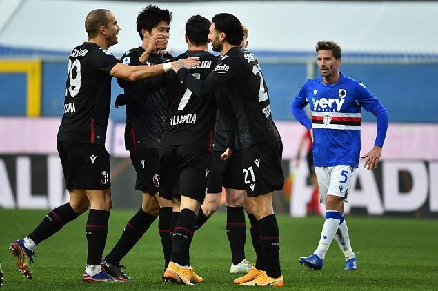 意甲:奥尔索利尼破门,桑普多利亚1-2博洛尼亚