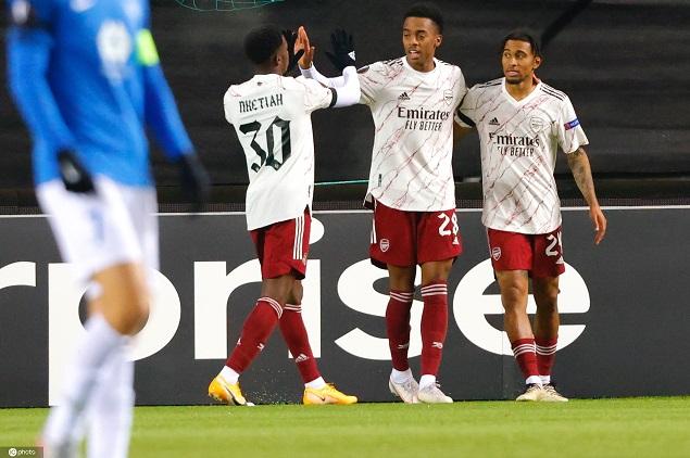 欧联:小威洛克两传佩佩破门,阿森纳3-0莫尔德提前出线