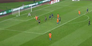 GIF:佩莱助攻格德斯抽射得分,鲁能2-0富力