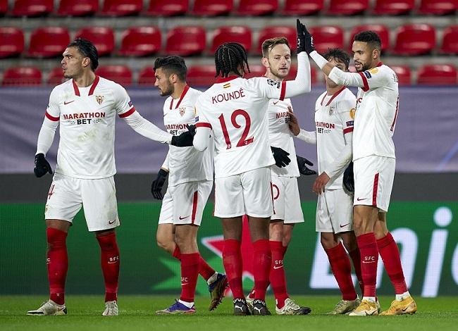欧冠:恩-尼西里双响孔德破门,塞维利亚客场3-1雷恩